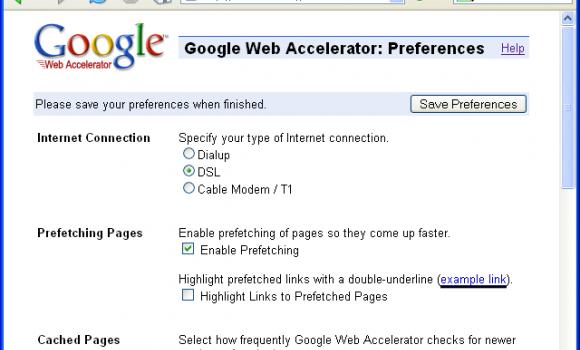 Google  Web Accelerator Ekran Görüntüleri - 1