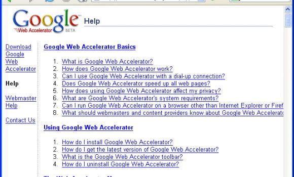 Google  Web Accelerator Ekran Görüntüleri - 2