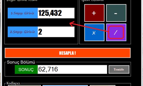 Hızlı Hesaplama Makinesi Ekran Görüntüleri - 2