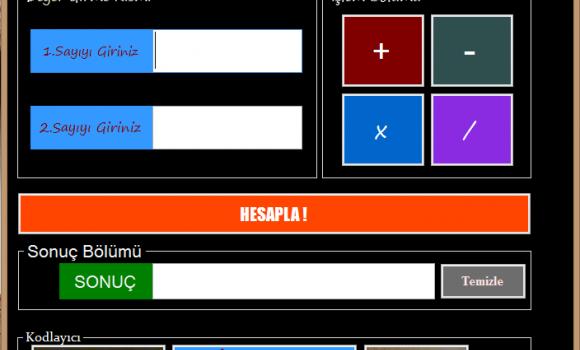 Hızlı Hesaplama Makinesi Ekran Görüntüleri - 1