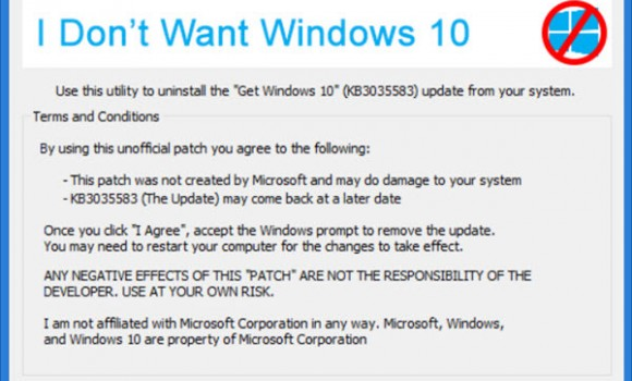 I Don't Want Windows 10 Ekran Görüntüleri - 1