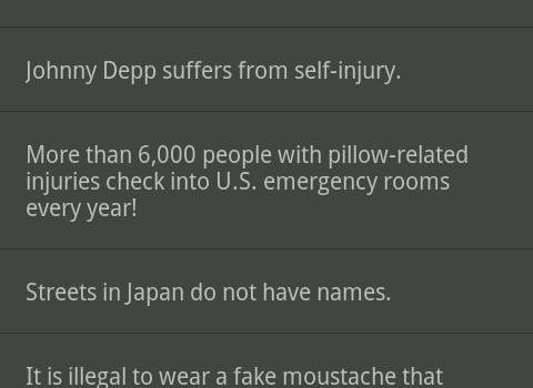 Interesting Facts Ekran Görüntüleri - 1