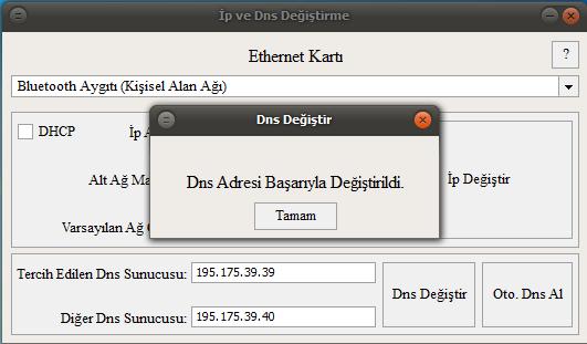 Ip ve DNS Değiştirme Ekran Görüntüleri - 1