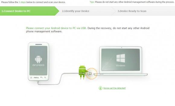 iSkysoft Android Data Recovery Ekran Görüntüleri - 1