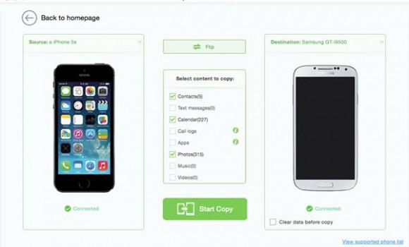 iSkysoft Phone Transfer Ekran Görüntüleri - 2