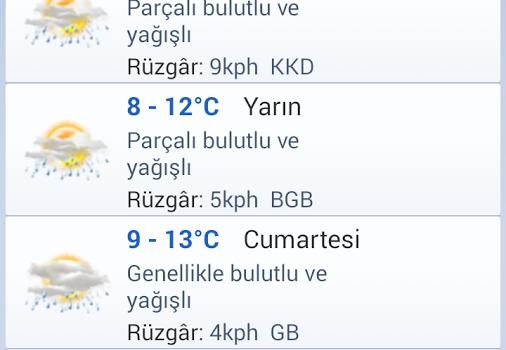 İstanbul Hava Durumu Ekran Görüntüleri - 2