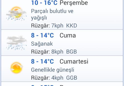 İstanbul Hava Durumu Ekran Görüntüleri - 1