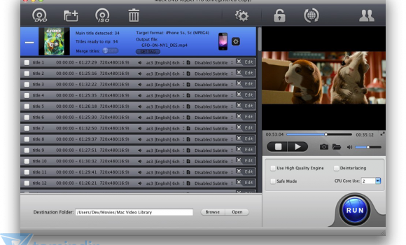 MacX DVD Ripper Pro Ekran Görüntüleri - 4