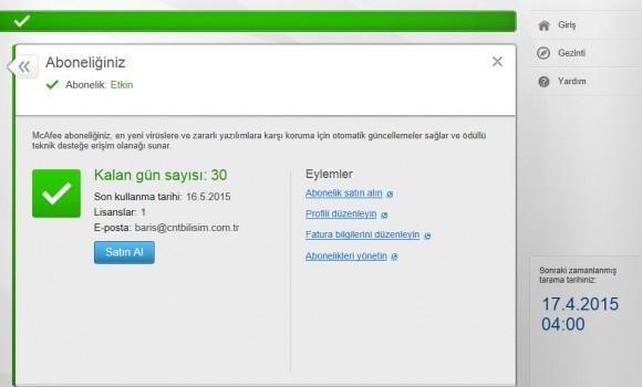 McAfee AntiVirus Plus Ekran Görüntüleri - 1