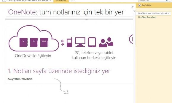 Microsoft OneNote 2013 Ekran Görüntüleri - 2
