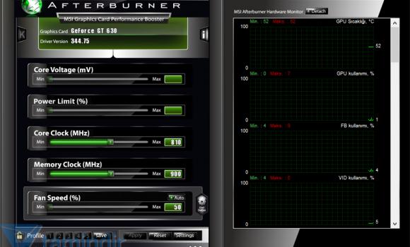 MSI Afterburner Ekran Görüntüleri - 3