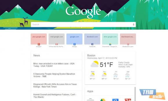 New Tab Page Ekran Görüntüleri - 1