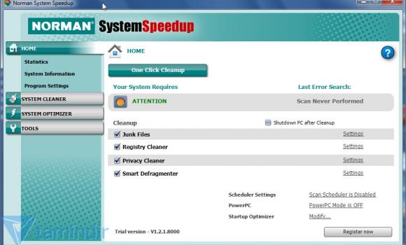 Norman System Speedup Ekran Görüntüleri - 1