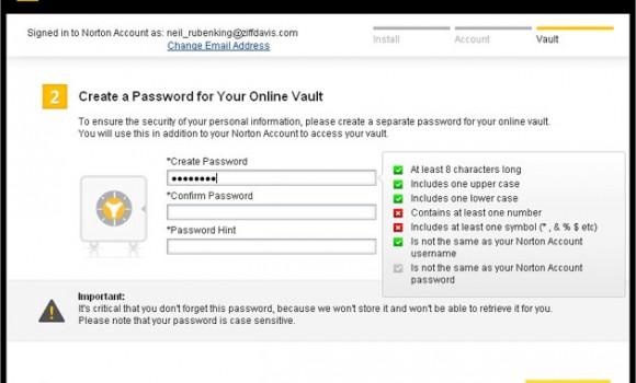 Norton Identity Safe Ekran Görüntüleri - 1