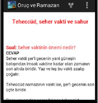 Oruç ve Ramazan Ekran Görüntüleri - 1