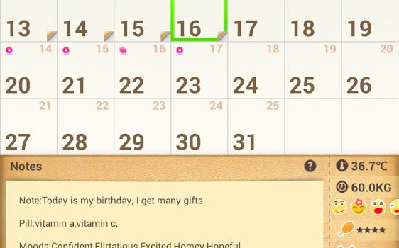 Period Calendar Ekran Görüntüleri - 5