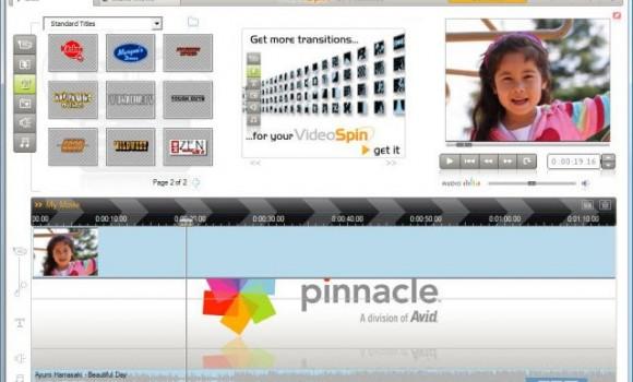 Pinnacle VideoSpin Ekran Görüntüleri - 1
