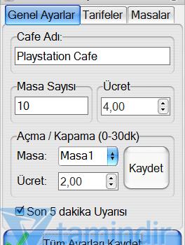Playstation Cafe Yönetim Programı Ekran Görüntüleri - 1