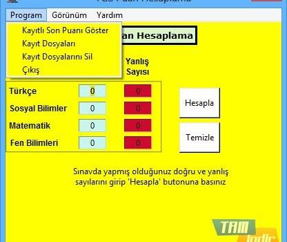 POI YGS Puan Hesaplama Ekran Görüntüleri - 2