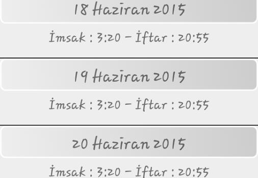 Ramazan İmsakiye 2015 Ekran Görüntüleri - 3