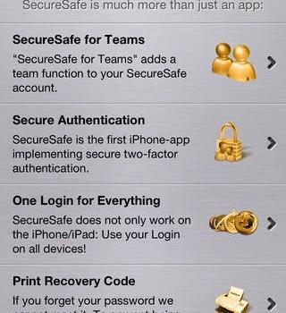 SecureSafe Ekran Görüntüleri - 1