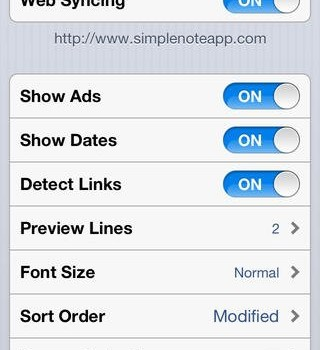 Simplenote Ekran Görüntüleri - 2