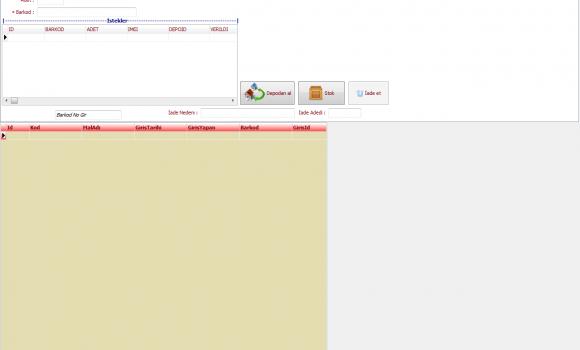 Stok Takip ve Satış İşlemleri Programı Ekran Görüntüleri - 1
