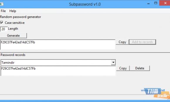 SubPassword Ekran Görüntüleri - 1