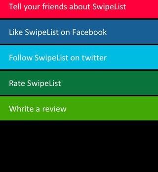 SwipeList Ekran Görüntüleri - 2