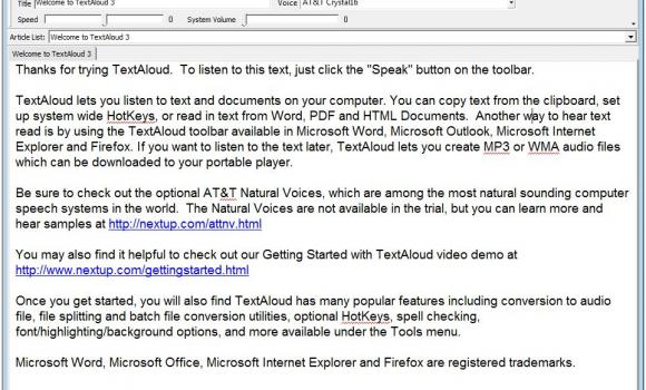 TextAloud Ekran Görüntüleri - 1