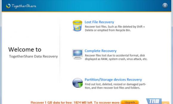 TogetherShare Data Recovery Free Ekran Görüntüleri - 1