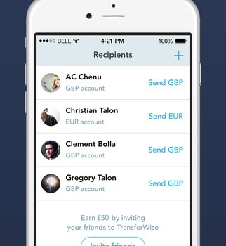 TransferWise Ekran Görüntüleri - 2