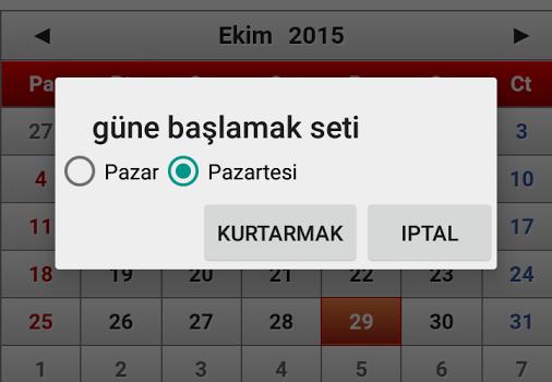 Türkiye Takvimi 2015 Ekran Görüntüleri - 2