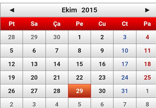 Türkiye Takvimi 2015 Ekran Görüntüleri - 1