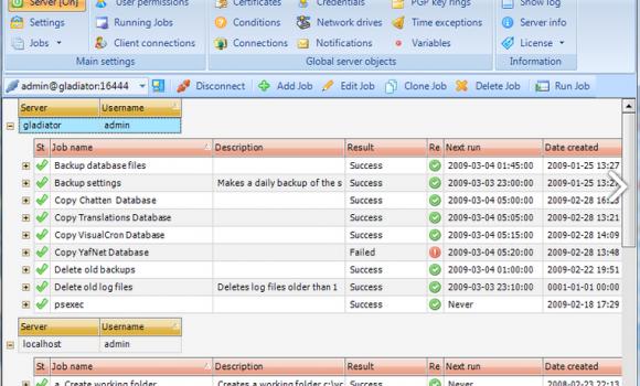 VisualCron Ekran Görüntüleri - 1