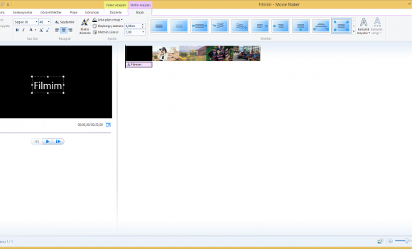 Windows Movie Maker Ekran Görüntüleri - 3