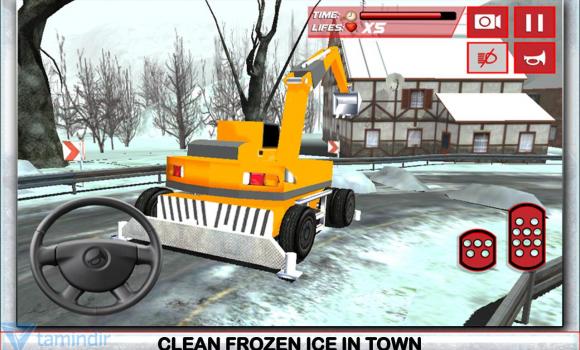 Winter Snow Plow Truck Driver Ekran Görüntüleri - 3