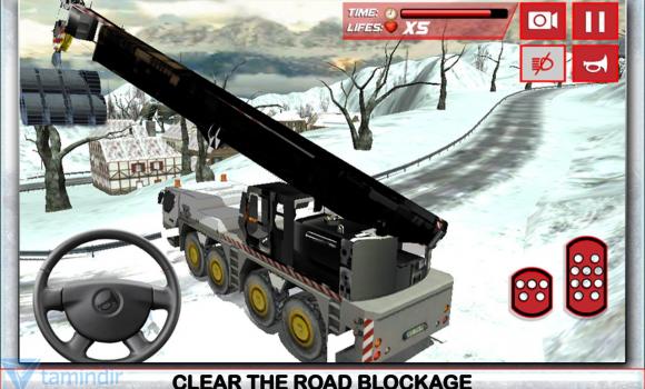Winter Snow Plow Truck Driver Ekran Görüntüleri - 1
