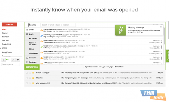 Yesware Email Tracking for Chrome Ekran Görüntüleri - 4