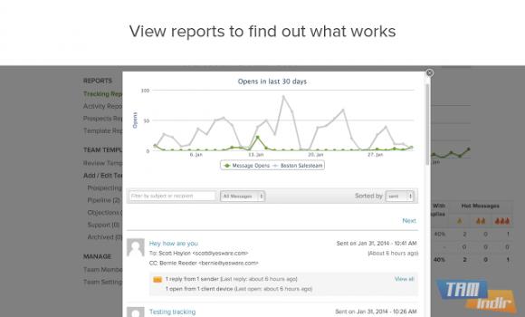 Yesware Email Tracking for Chrome Ekran Görüntüleri - 1
