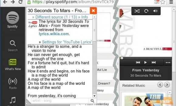 YouTube Lyrics Ekran Görüntüleri - 1
