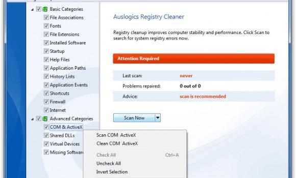 Auslogics Registry Cleaner Ekran Görüntüleri - 3