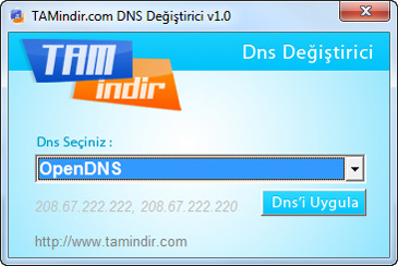 TAMindir DNS Değiştirici Ekran Görüntüleri - 1