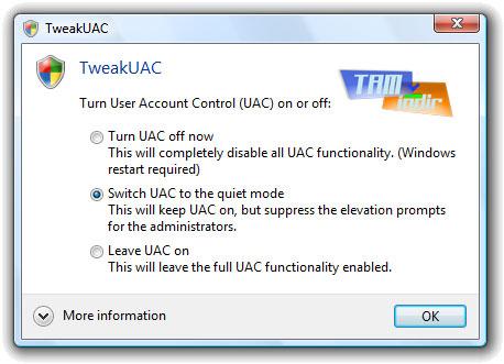 TweakUAC Ekran Görüntüleri - 1