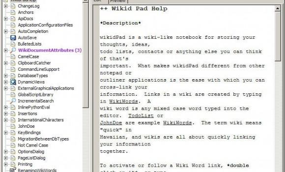WikidPad Ekran Görüntüleri - 1
