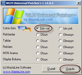 Windows Live Messenger için Çoklu MSN Açma Yaması (WLM Universal Patch) Ekran Görüntüleri - 1