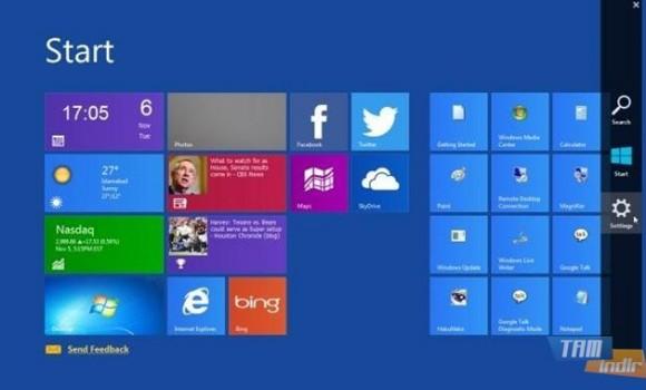 Windows 8 Charms Bar Skin Ekran Görüntüleri - 1