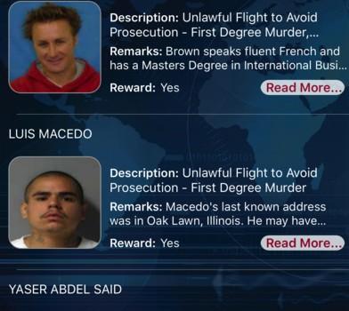 FBI Wanted Ekran Görüntüleri - 1