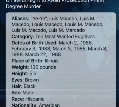 FBI Wanted Ekran Görüntüleri - 3