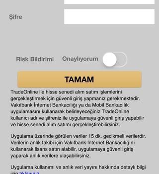 Vakıfbank TradeOnline Ekran Görüntüleri - 4